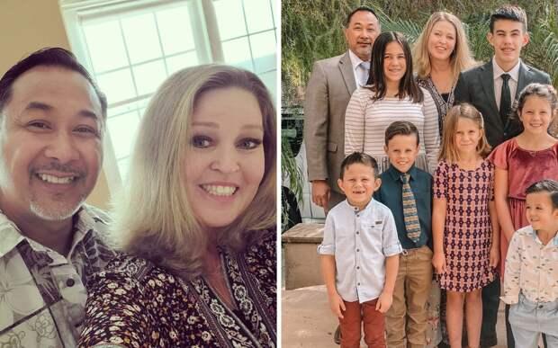 Многодетные супруги стали семьей для семерых детей, лишившихся родителей