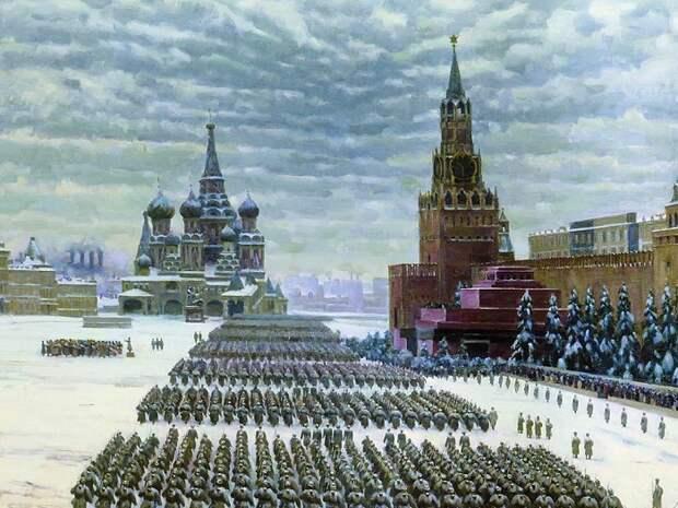 Парад на Красной площади. Автор: Константин Юон.