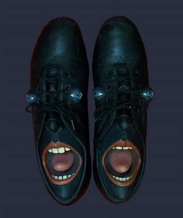 Необычные обувные портреты Гвен Мёрфи