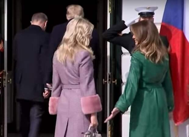 Трамп и премьер Чехии проигнорировали фотосъёмку с жёнами