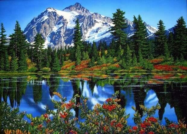 Потрясающие картины из самоцветов!