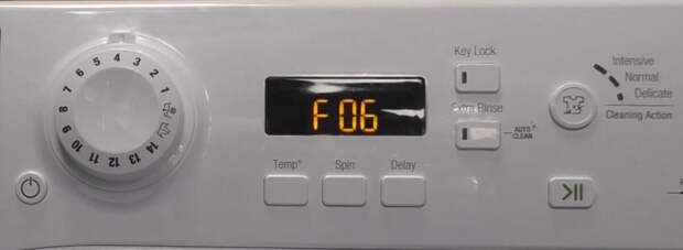 Ошибка F06, стиральная машина Хотпойнт Индезит-Аристон.