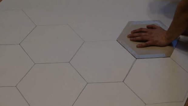 Очень простой и стильный трюк, как сделать декор «Соты»