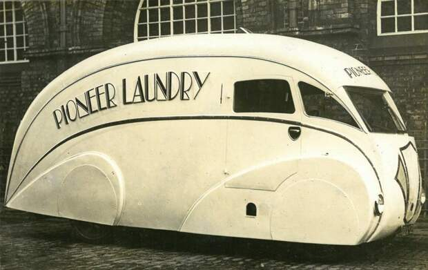 Streamline Moderne грузовой автомобиль, 1931 автомир, аэродинамика, из прошлого, конструкция, обтекаемость. формы