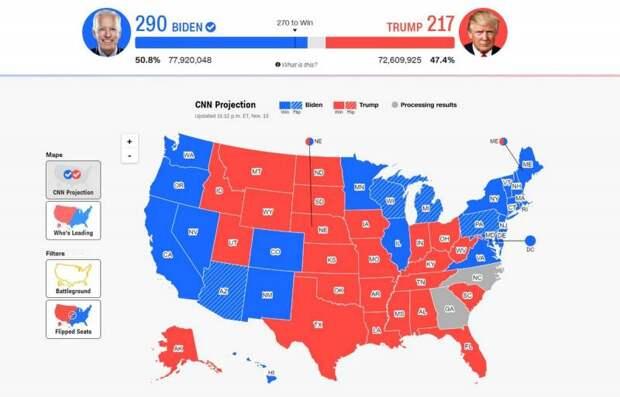 Первая победа Трампа: в США власти не учтут часть бюллетеней