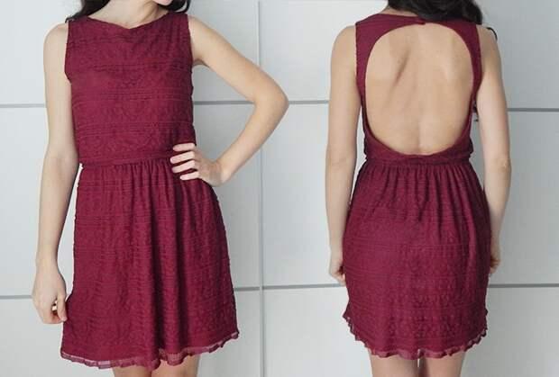 Как открыть спину на платье (мк)
