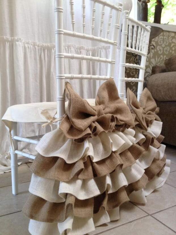 Отличные варианты декора мешковиной