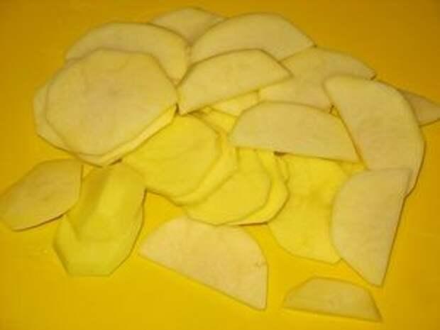 ломтики картошки для запекания с окорочками