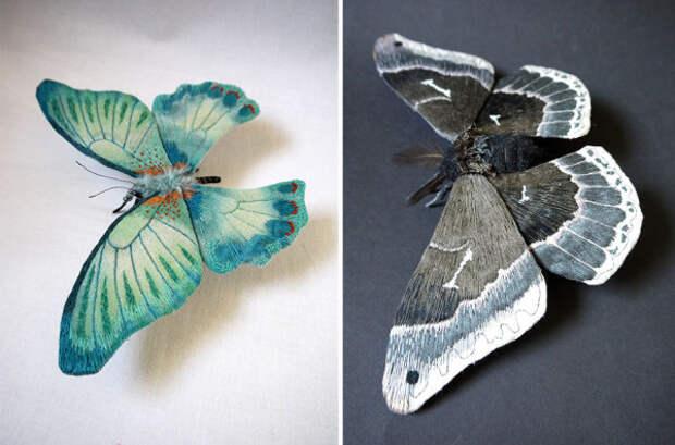 Бабочки в художественном исполнении.