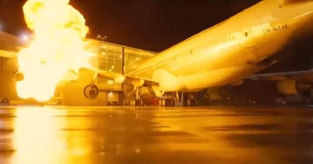 Нолан взорвал настоящий самолет насъемках «Довода»