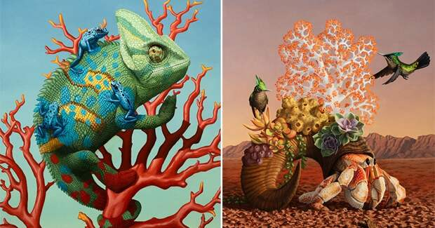 Магия животного мира в картинах художника-сюрреалиста ДжонаЧинга