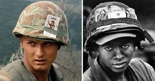 Зачем американские солдаты во Вьетнаме носили на касках игральные карты