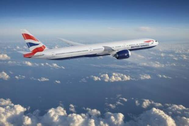 Boeing 777-9X в ливрее авиакомпании British Airways, рендер