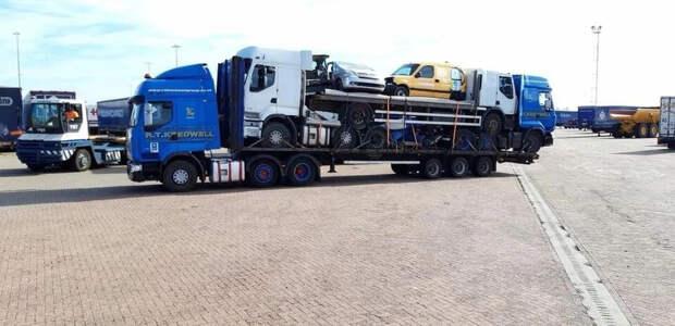 Забавные фото про грузовики и дальнобойщиков