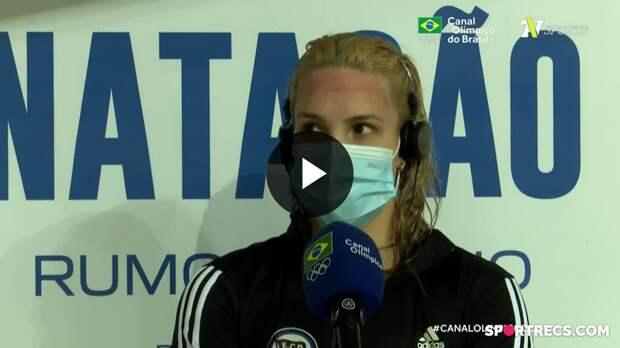 Giovanna Diamante fala sobre as dificuldades na prova dos 200m Borboleta Feminino - Dia 4 do Pré-Olímpico de Natação (22/04/2021)