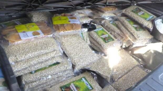 Почти 50 килограммов кедровых орехов пытались вывезти из Ростовской области в тайнике