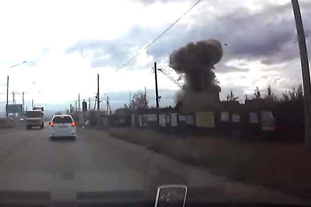 Момент взрыва ракеты в Чите