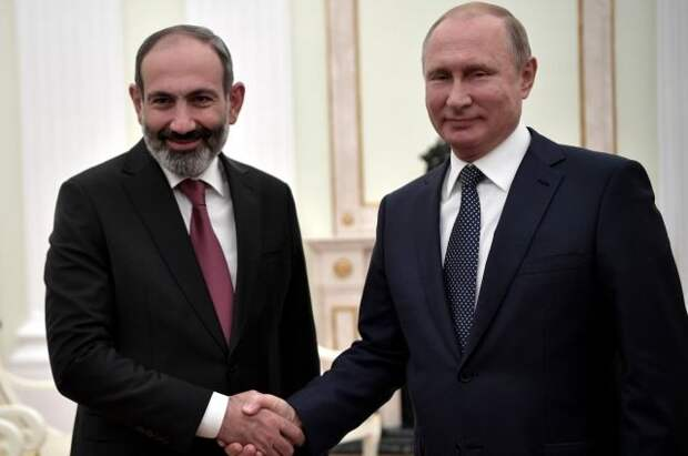 Путин провёл телефонный разговор с Пашиняном