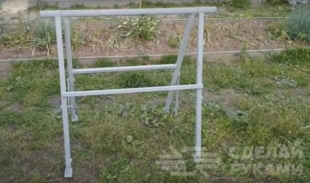 Как сделать складные строительные козлы из профтрубы своими руками