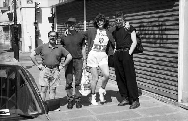 Марк Коэн, Эдуард Лимонов, Наталья Медведева, Ярослав Могутин. Париж, 1992 год