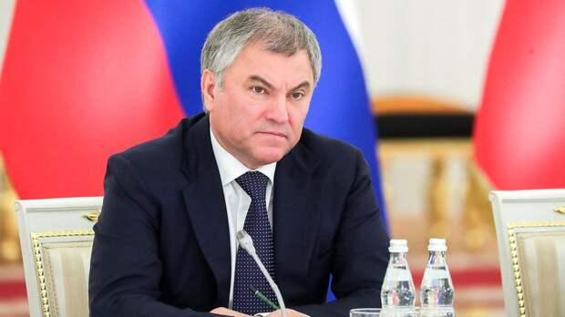 Сui prodest: Володин рассказал, в чьих интересах действует Прага