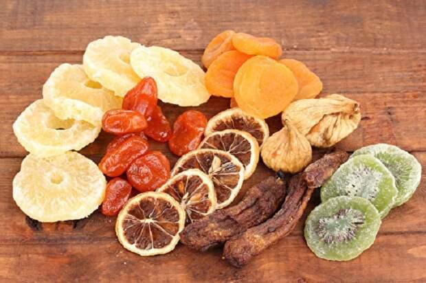 Сухофрукты лучше, чем фрукты, согласно китайской медицине