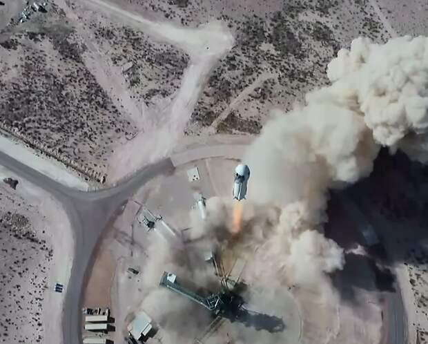 Модернизированная пассажирская капсула New Shepard слетала в космос