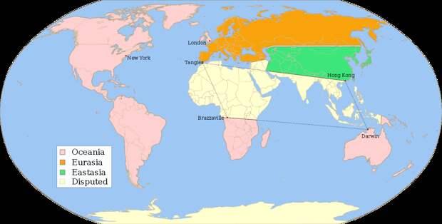 """Раздел мира между сверхдержавами в """"1984"""""""