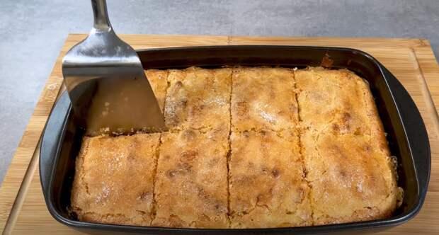 Яблочный пирог за 5 минут работы и 25 минут выпечки. Пирог, тающий во рту
