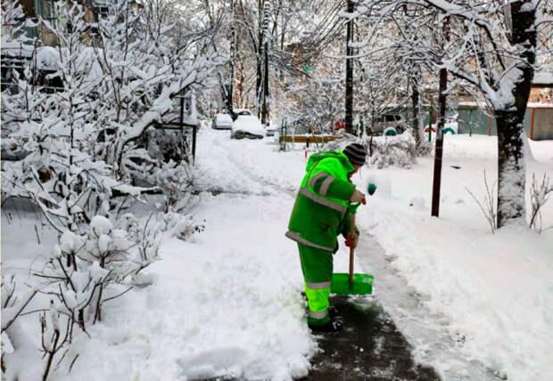 В Краснодаре управляющим компаниям поручили расчистить снег на  придомовых территориях