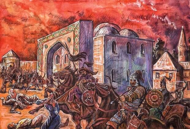 Снова рознь между казанскими и крымскими татарами в Казани..(художник О.Леонтьев, Чебоксары)