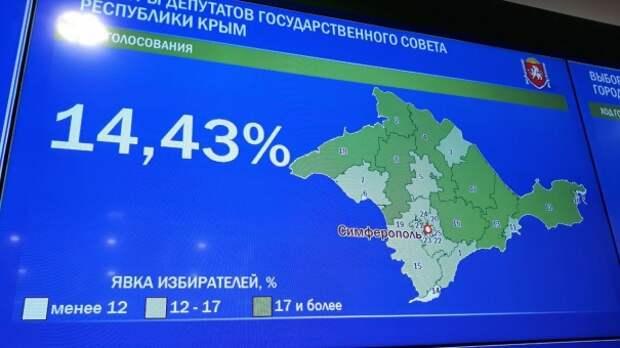 Явка на выборах в Госсовет Крыма к 13:00 составила 14,43%