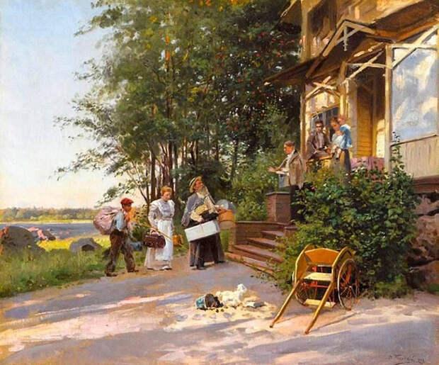 Дачная жизнь на картинах русских художников