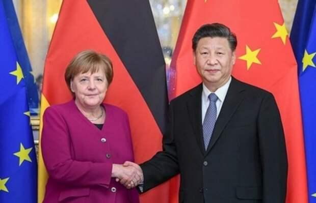 Си Цзиньпин и Ангела Меркель