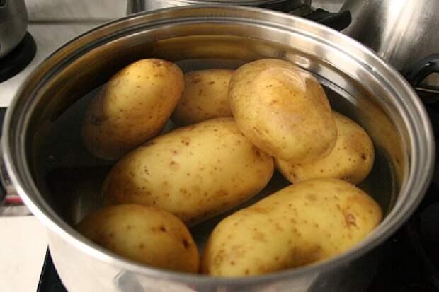 Картошка будто с мангала