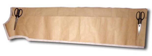Вырезать передние кусков ткани