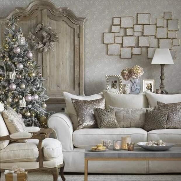Серый, Светло-серый, Белый, Бежевый,  цвет в Гостинная, холл, Мебель и предметы интерьера, Декор, , Гостинная, холл, Мебель и предметы интерьера, Декор,  в стиле эклектика, .