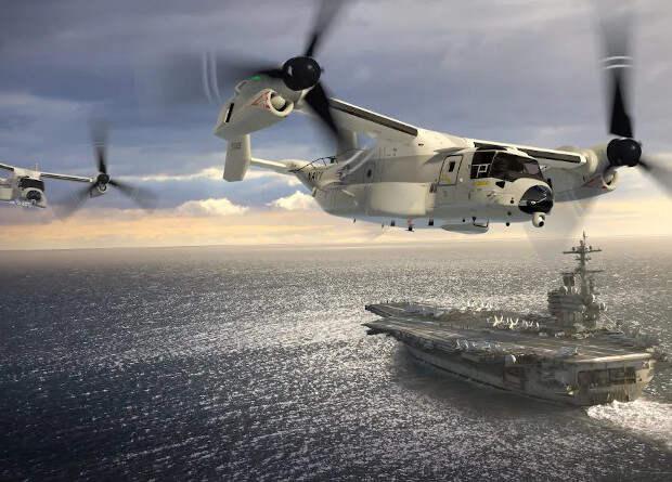 Палубные транспортники Greyhound заменят конвертопланами Osprey
