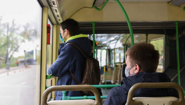 Пассажиропоток упал в автобусах Подмосковья на 78%