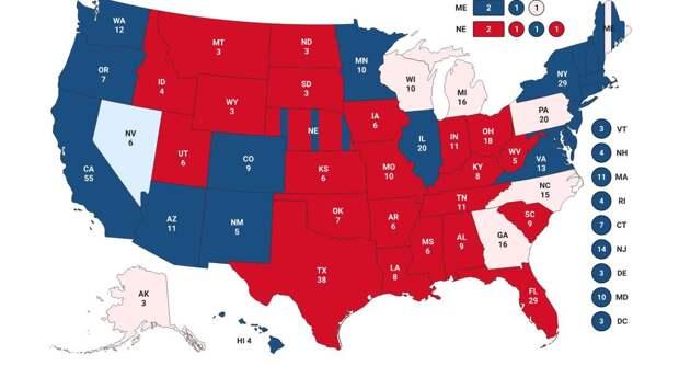 Выборы президента США. Последние данные в графике