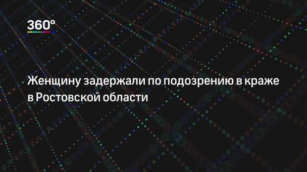 Женщину задержали по подозрению в краже в Ростовской области