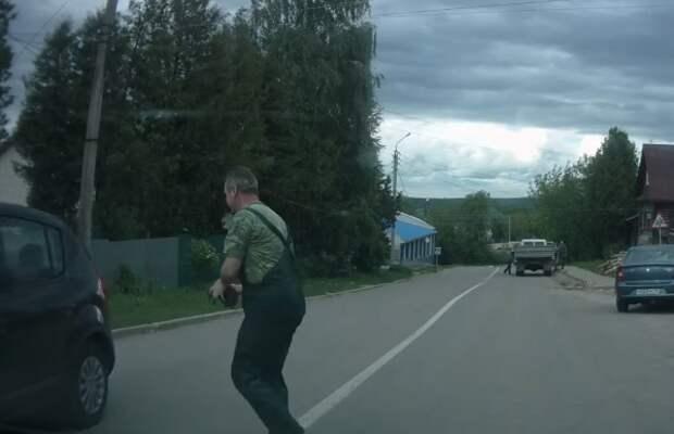 Под Калугой водитель спас переходившего дорогу ежика