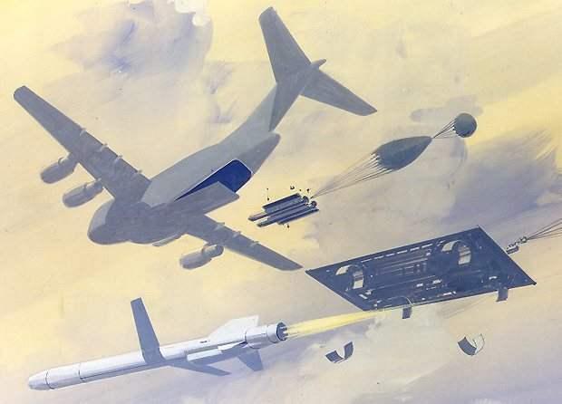 Военно-транспортный самолет превращается....