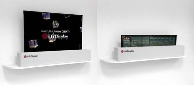 LG выпустит сворачивающийся в трубочку телевизор уже в 2019 году