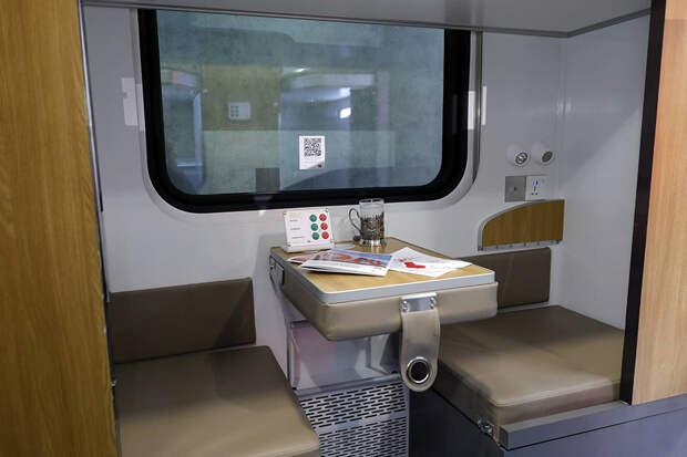РЖД показали прототип интерьера новых плацкартных вагонов