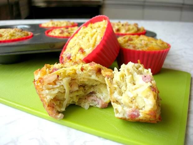НЕСЛАДКИЕ МАФФИНЫ из Картофеля, Вкусная Идея для Пикника и не только! Маффины БЕЗ МУКИ!