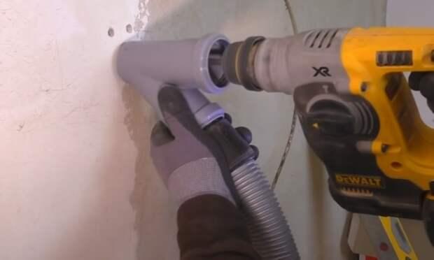 Из тройника легко сделать приспособление для улавливания пыли. / Фото: youtube.com/watch?v=bnEU6qnN-MI
