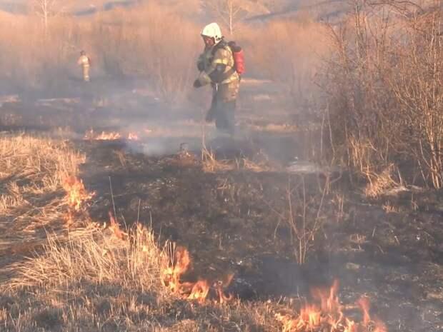 Более 100 палов травы ликвидировали огнеборцы за неделю в Забайкалье