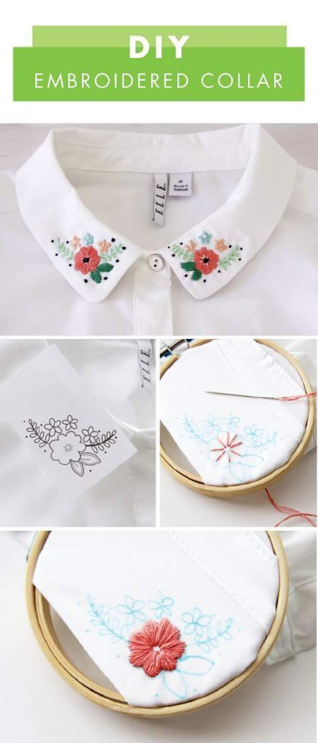 Блузка с наивной вышивкой