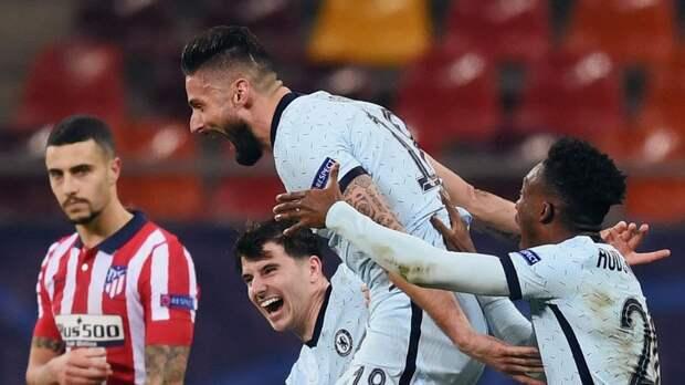 Эффектный гол Жиру ударом через себя принес «Челси» победу над «Атлетико» в 1-м матче 1/8 финала ЛЧ